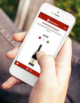 Buy wine by app on your iPhone