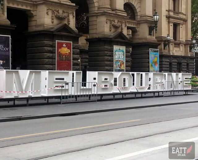 Melbourne at white night